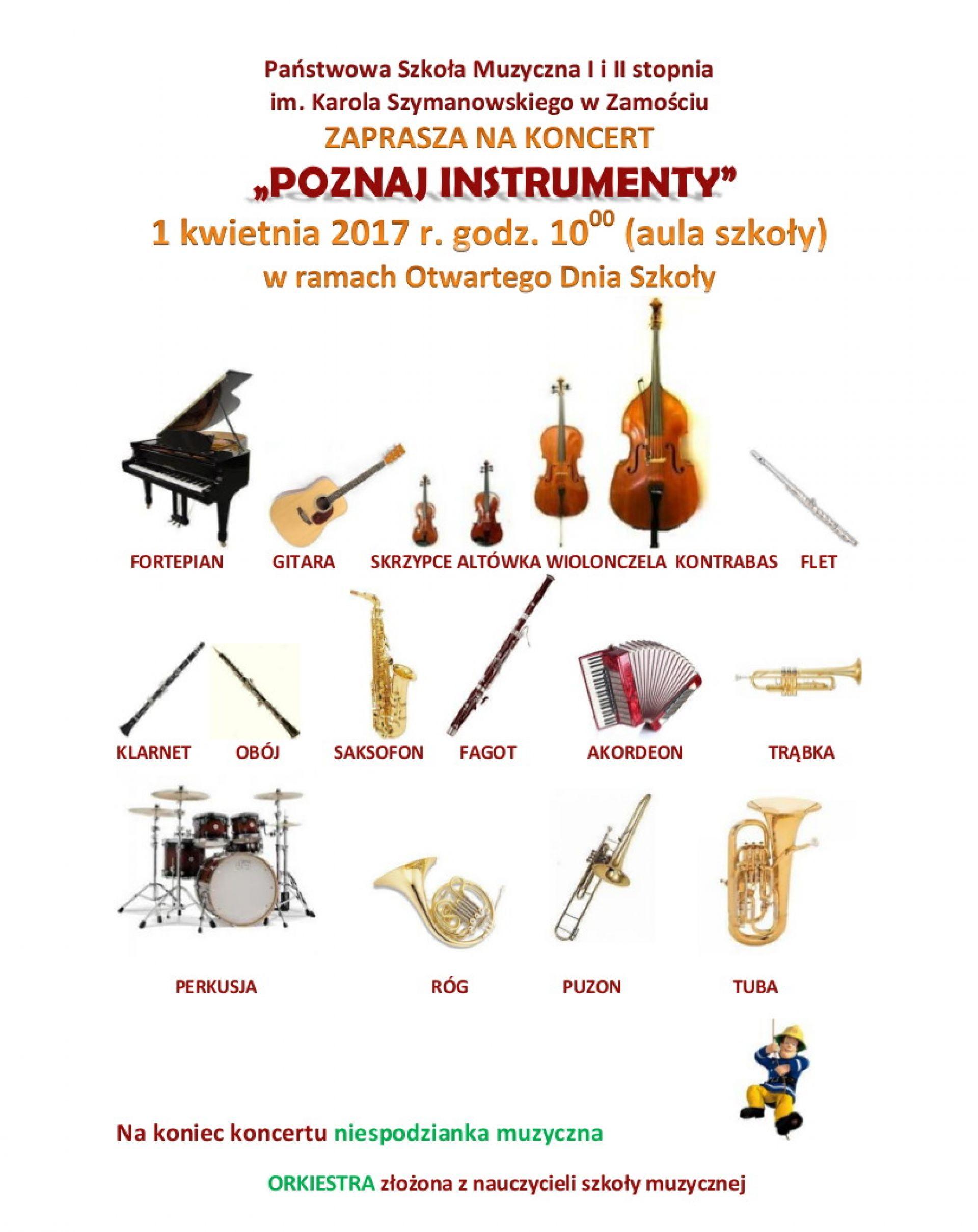 Poznaj Instrumenty Szkoła Muzyczna Zaprasza Na Koncert Ezamoscpl